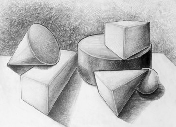 arkhe sanat-geometrik form çizimi-2007