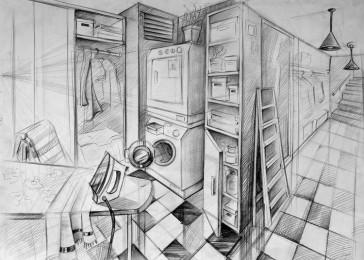 arkhe sanat imgesel çizimi-mimar sinan iç-mimarlık sinav sorusu-çamasır-odası