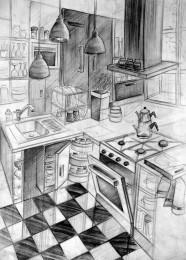 arkhe sanat imgesel çizimi-mimar sinan iç mimarlık sınav sorusu-mutfak