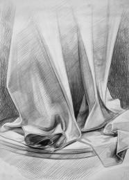 arkhe sanat karakalem natürmort drape çizimi