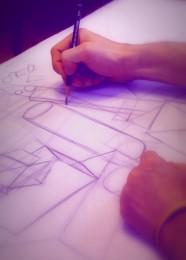 arkhe sanat perspektif çizimi geometrik formlar