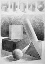 arkhe sanat geometrik form çizimi ve ton skalası