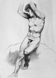 arkhe sanat figür karakalem kopya çizimi-2010