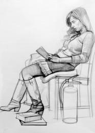 arkhe sanat karakalem figür çizimi