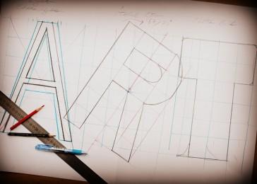 arkhe sanat tipografi çalışması art