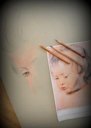 arkhe sanat kopya çalışması çocuk portresi