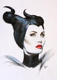 arkhe sanat grafik illüstrasyon çalışması angelina jolie maleficent