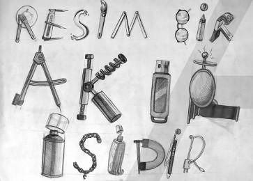 arkhe sanat tipografi çizimi