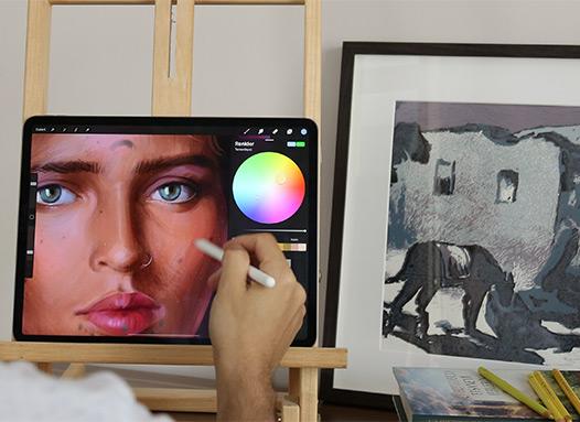 Geleneksel Çizim Yöntemlerini Dijital Uygulamalar ile Birleştirdik
