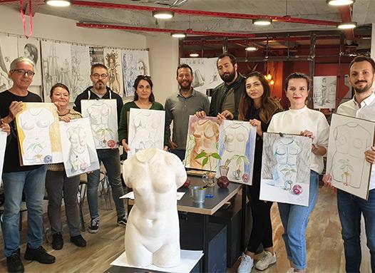 Resim Öğretmenlerimizle Eğitimler Düzenledik