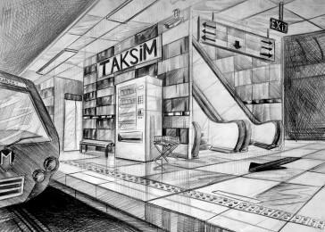 arkhe sanat perspektif çizimi-mimar sinan iç mimarlık sınav sorusu
