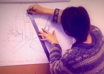 arkhe sanat perspektif çizimi geometrik formlar 2
