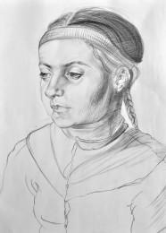arkhe sanat kopya portre karakalem çizimi-2011