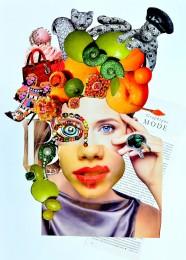 arkhe sanat kolaj çalışması güzellik teması
