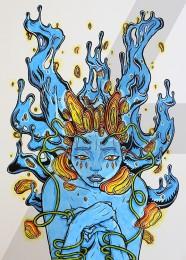 arkhe sanat grafik illüstrasyon çalışması