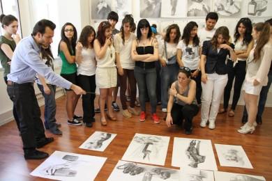 arkhe sanat-kurs fotoğrafları-yetenek sınavlarına hazırlık çalışmaları