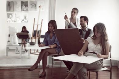 arkhe sanat-kurs fotoğrafları-model ile öğrenciler-5